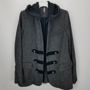 Free People Open Face Hooded Jacket